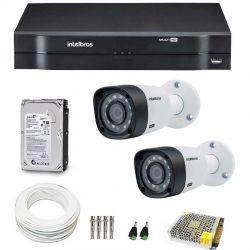 Kit CFTV Completo Com 2 Câmeras Intelbras